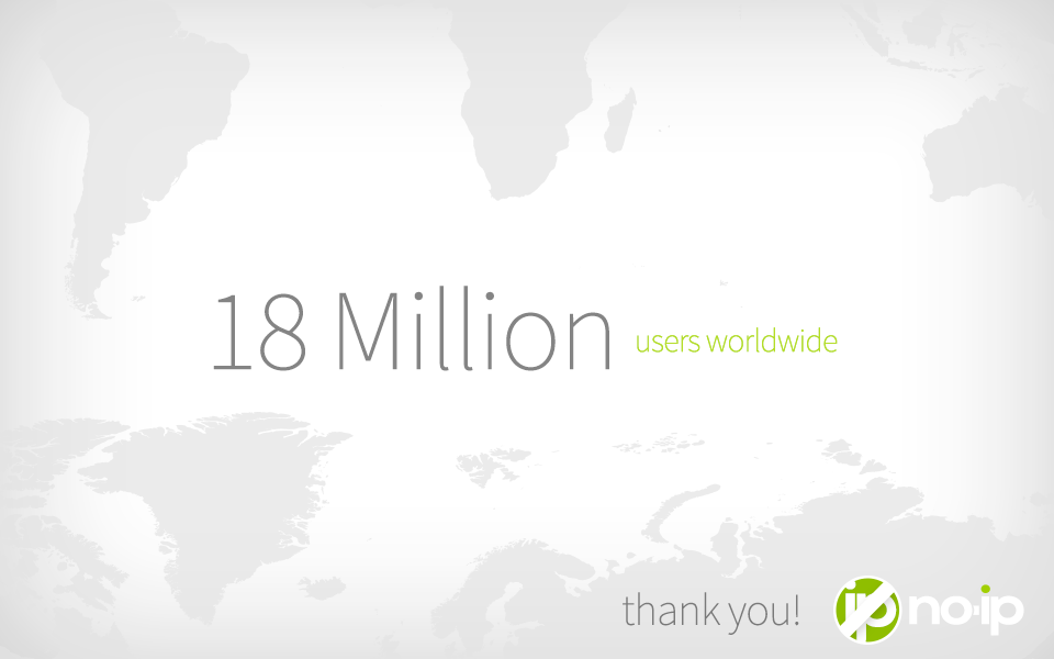 18 million No-IP users